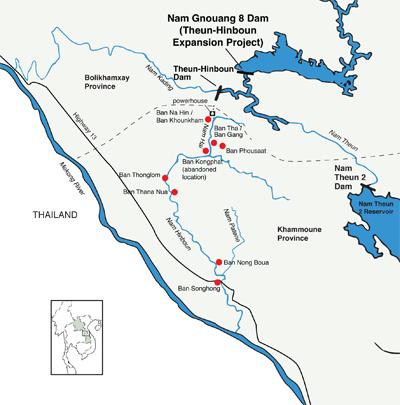 Kartet viser områder som rammes av de pågående og planlagte utbyggingene. Kilde: International Rivers.