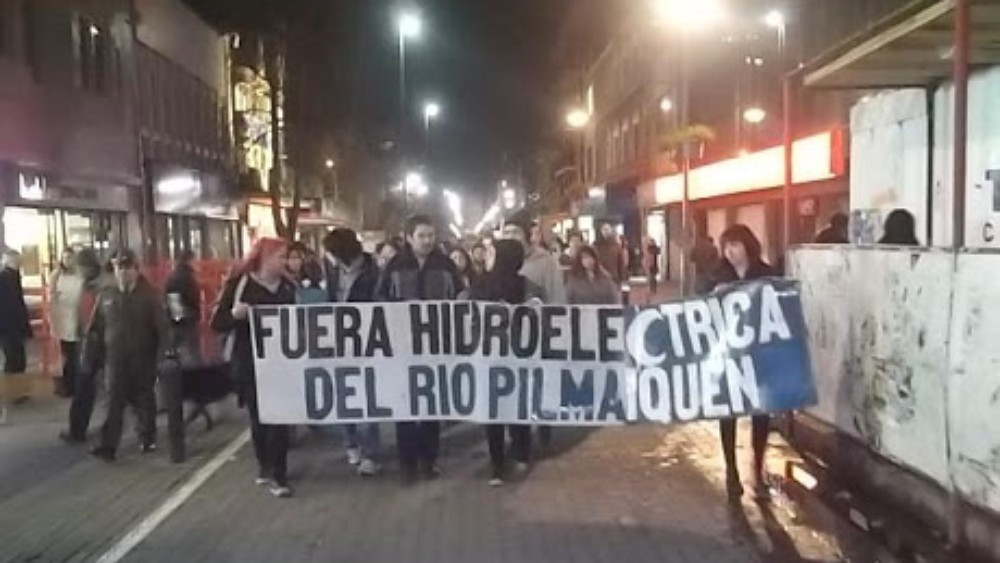 Mapuche-protest, handout