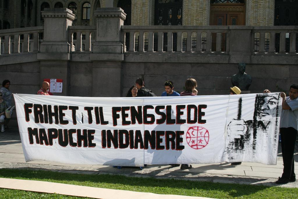 Mapuche protest i Oslo
