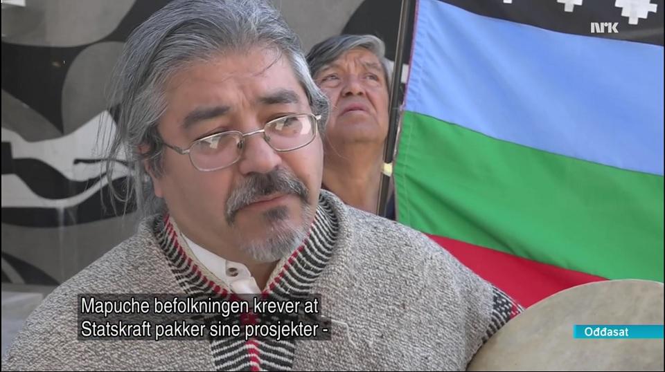 Mapuche-demo utanfor Statkraft