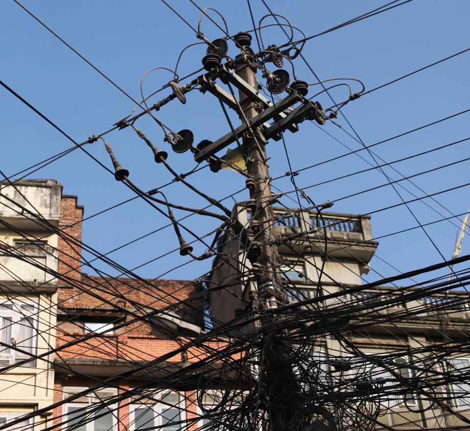 Strømledmninger i Katmandu